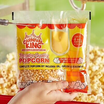 Carnival King All-in-one Popcorn Kit For 8 Oz. To 10 Oz. Poppers