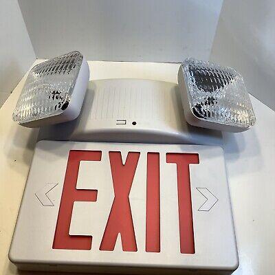 Emergency Lighting Led Emergency Light Exit Combo Unit Wbattery Backup And Test