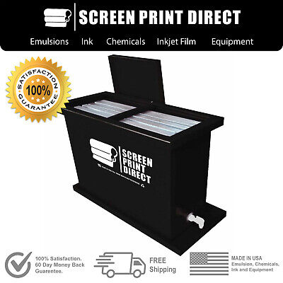 Ecotex Screen Printing Equipment - 30 Gallon Dip Tank - Fits Up To 6 Screens