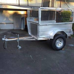 6x4 heavy duty trailer high sides cage Rego Ipswich Ipswich City Preview