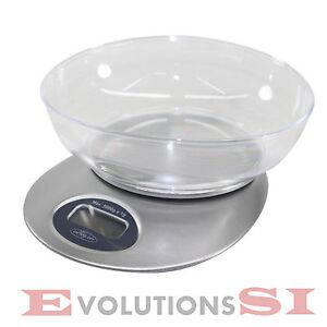 Bascula balanza cocina con bol recipiente cubeta 1g 5kg for Balanza cocina 0 1 g