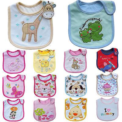 Baby Boy Girl Kids Child Toddler Infant Burp Cloth Bibs Waterproof Saliva Towel