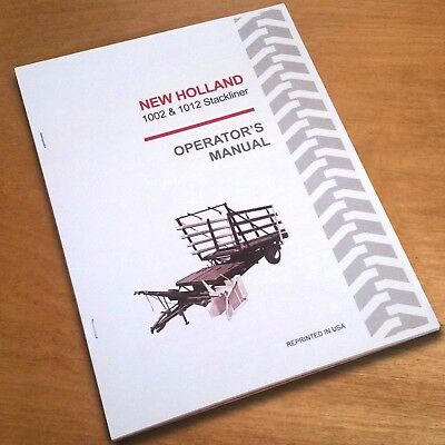 New Holland 1002 1012 Bale Wagon Operators Owners Book Guide Manual Nh