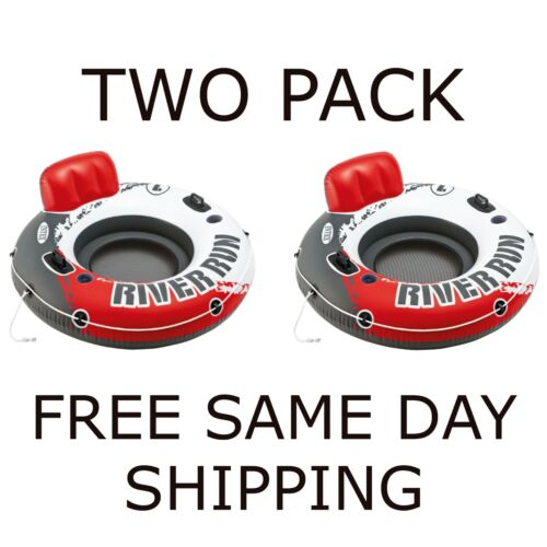 """✅ Intex River Run Inflatable Tube 2 PACK 53"""" Red IN HAND FREE SAME DAY SHIPPING"""