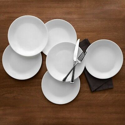"""Corelle Classic Winter Frost White 10.25"""" Dinner Plate, Set of 6"""
