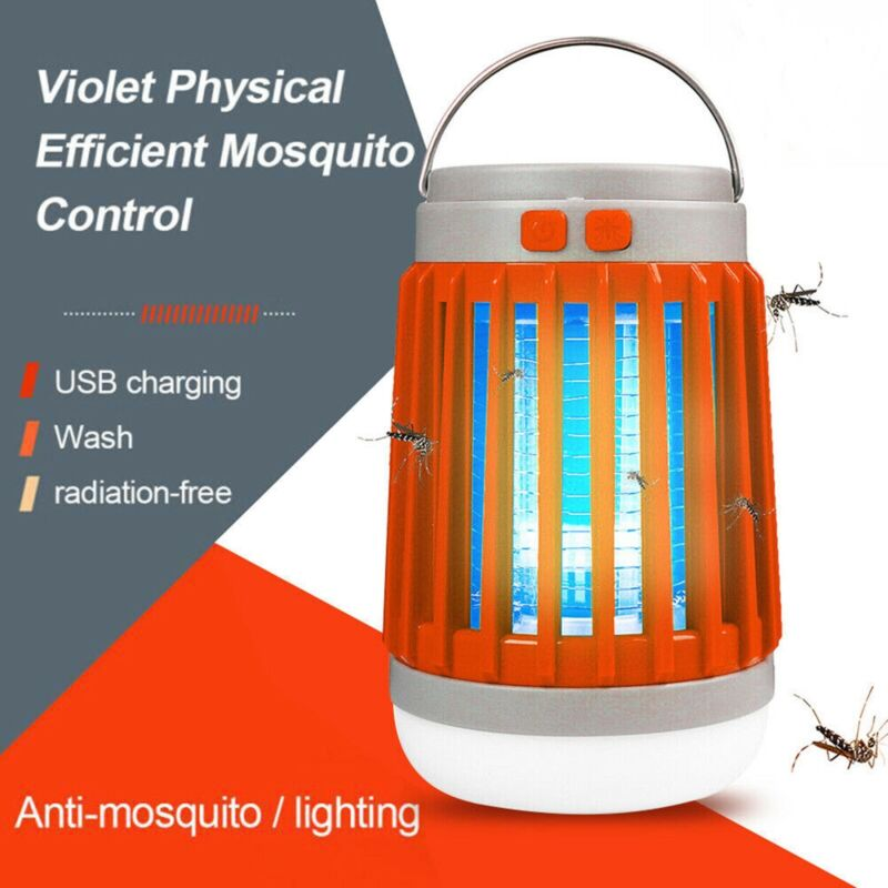 Electric Shock Mosquito Killer Solar USB Charging Mosquito Insect Killer Lamp
