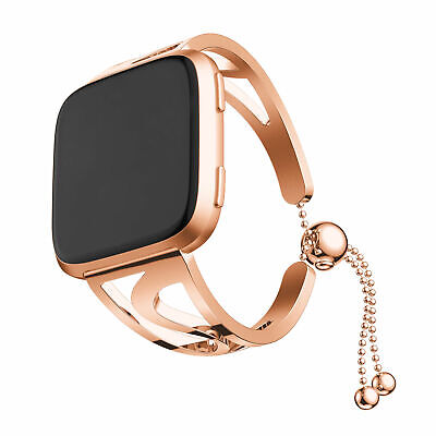 Ladies Gold Bracelet Band Watch (Rose gold Lady Bracelet Stainless Steel Watch Wrist Band Strap For Fitbit Versa)