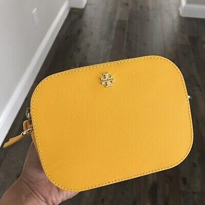 NWT Tory Burch Emerson Round Crossbody Bag in Cassy Yellow/ Gold Original $225