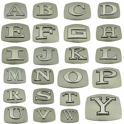Initial Belt Buckles Texas Usa American Western Cowboy Letter Monogram Alphabet