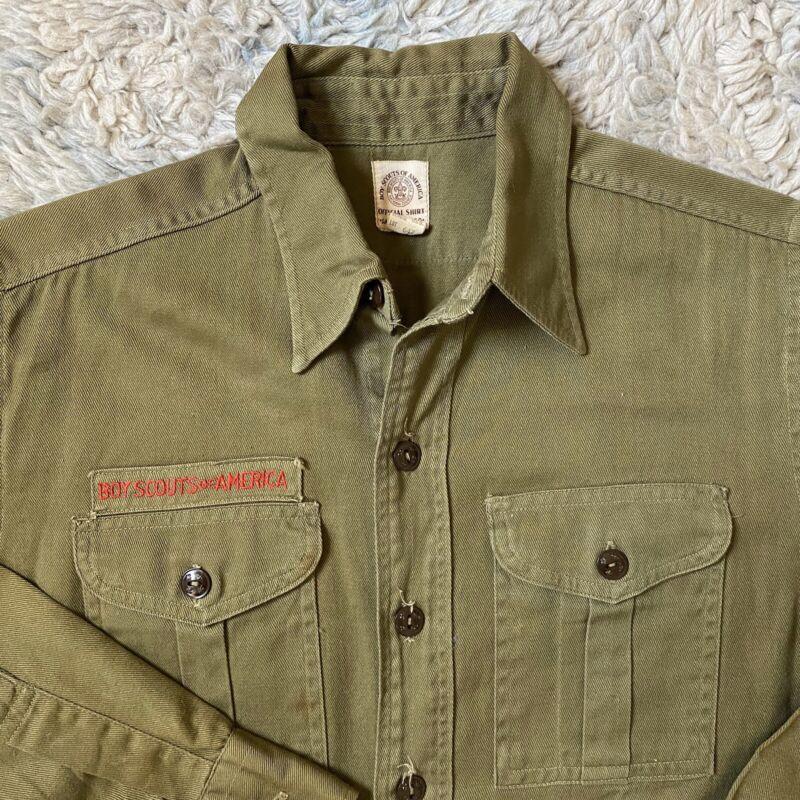Vintage Boy Scouts America Sanforized Small Shirt 14/5 Regular Uniform