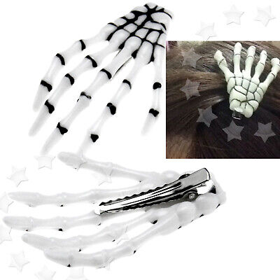 2 x Creative Skull Hair Clip Skeleton Claw Hand Bone Hairpin Stylish](Small Plastic Skeletons)