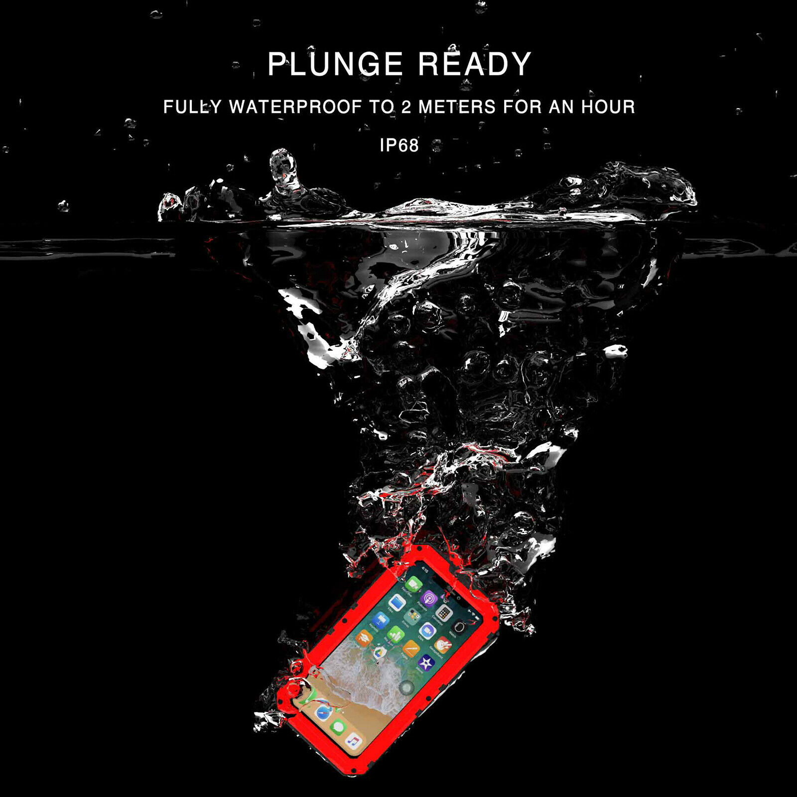 Купить Luphie - Waterproof LUPHIE Aluminum Metal Case Cover for iPhone 6S 7 8 Plus XS MAX XR