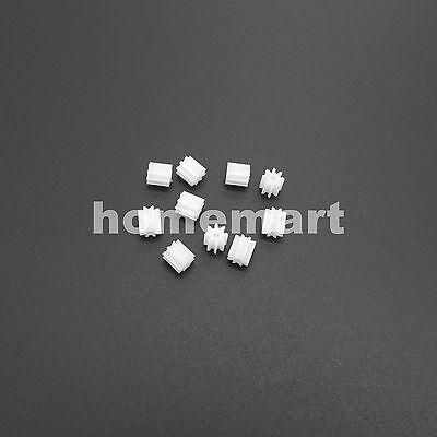 10pcs Plastic Spur Gear 0.5 Modulus T8 Aperture 1.5mm Diy Model Accessories 8t