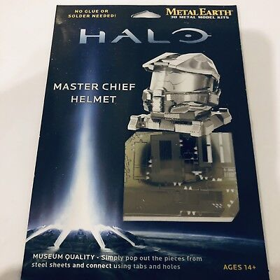 Metal Earth Halo Master Chief Helmet 3D Model No Glue Or Solder
