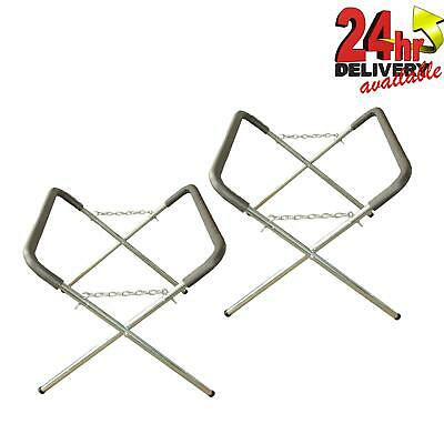 2 X Body Shop Trestle Table / Panel Stand Adjustable Bodyshop Panelstand