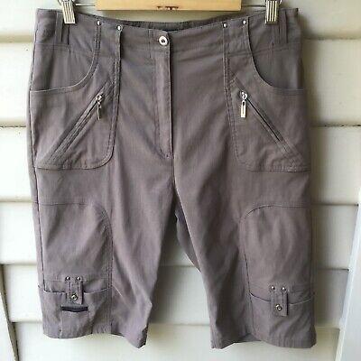 JAMIE SADOCK SZ US 10 AU 14 Latte Shorts Stretch Active Golf Zip Pockets EUC