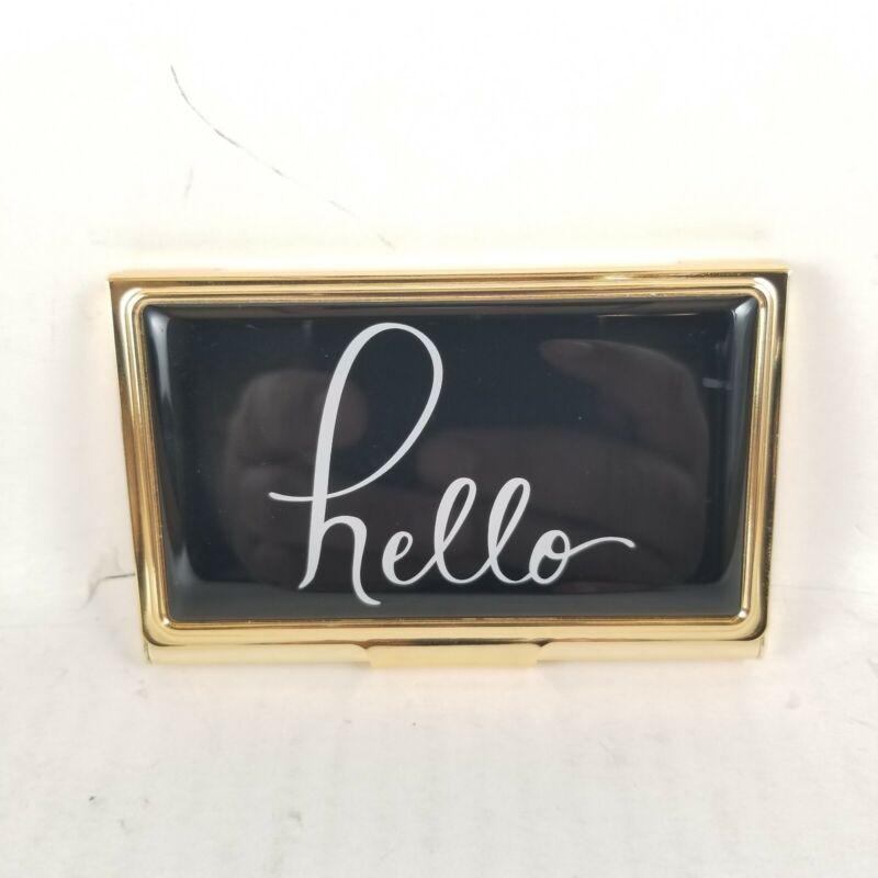 Kate Spsde New York Boudoir Chic Hello Business Card Holder.. New