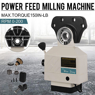 Power Feed X-axis 150lbs Torque For Bridgeport Type Milling Machine 0-200 Rpm