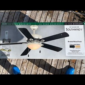 2 Matching Ceiling Fans - 1 unopened box