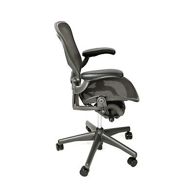 Herman Miller Aeron Size B Office Chair With Free Hardwood Floor Mat