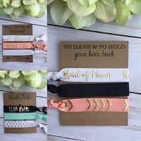 Bridal party favours ~ hair ties