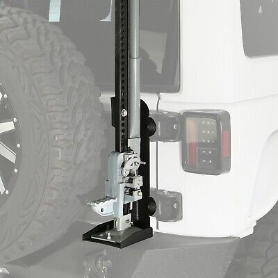 Smittybilt 2844 (IN STOCK) Trail Jack Mount Fits 2843 Pivot Tire Carrier Jeep JK Stock Jeep Bumpers