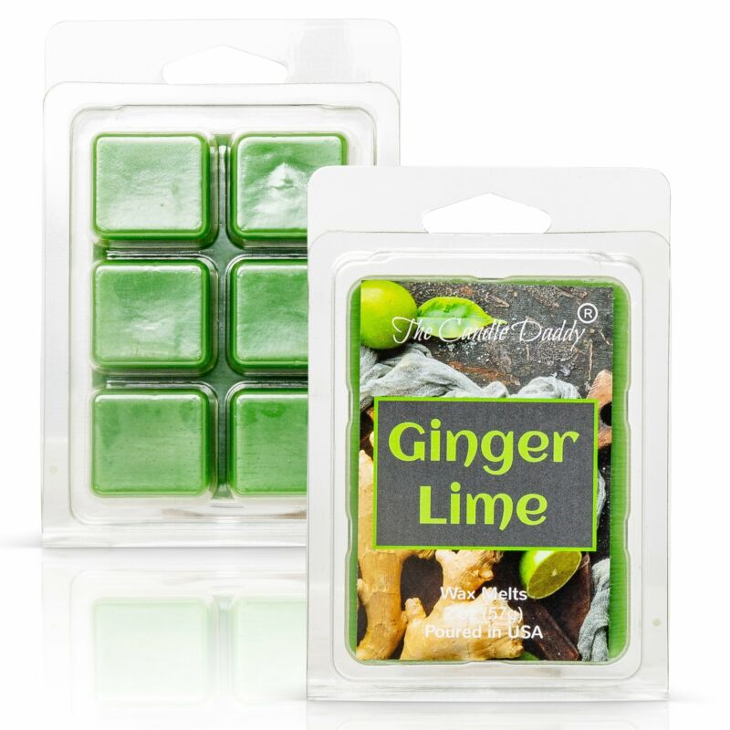 Ginger Lime - Fruity Ginger Lime Scented Melt- Maximum Scent Wax Cubes/Melts- 1