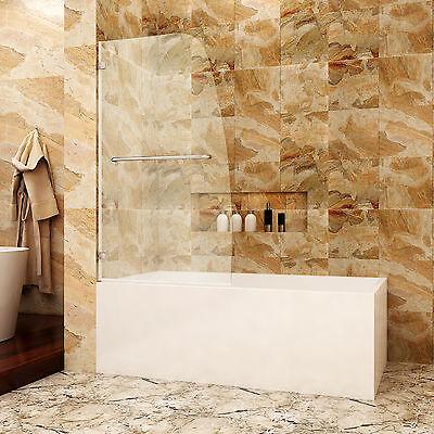 SUNNY SHOWER Single Hinged Glass Panel BATHTUB door 34