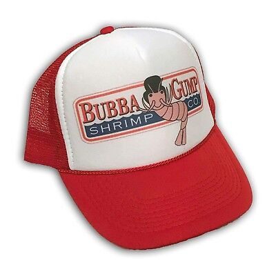 Bubba Gump Shrimp Co Trucker Hat Vintage Style Forest Gump Costume Snapback