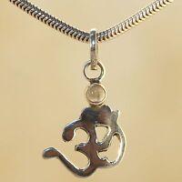 Colgante, Pequeño Silber-om-anhänger-mit Rauch-chalcedon- India Plata / 925 -  - ebay.es