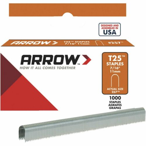 "Arrow T25 Cable Staples 11mm - 7/16"" 1000 Count - #257"