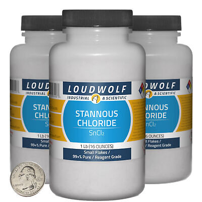 Stannous Chloride 3 Lbs 3 Bottles 99 Pure Reagent Grade Small Flakes