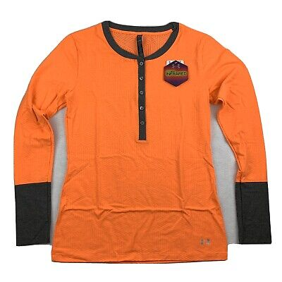 Under Armour Cold Gear Long Sleeve Orange Shirt New With Tags NWT Size Large