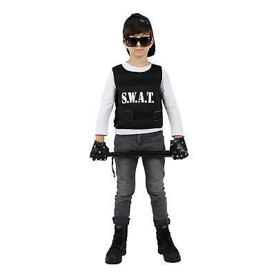 SWAT Team Child Police Costume Halloween Boys Law - Swat Halloween Kostüm