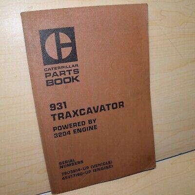 Cat Caterpillar 931 Track Loader Parts Manual Book Catalog Spare Crawler Front