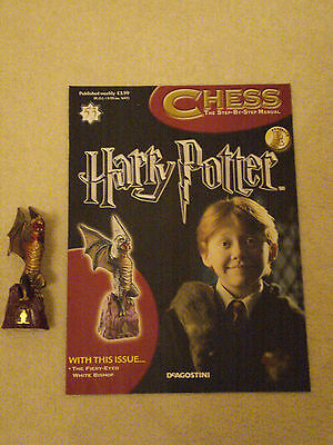 BN HARRY POTTER CHESS MAGAZINE NO.53 WITH THE FIREY-EYED WHITE BISHOP