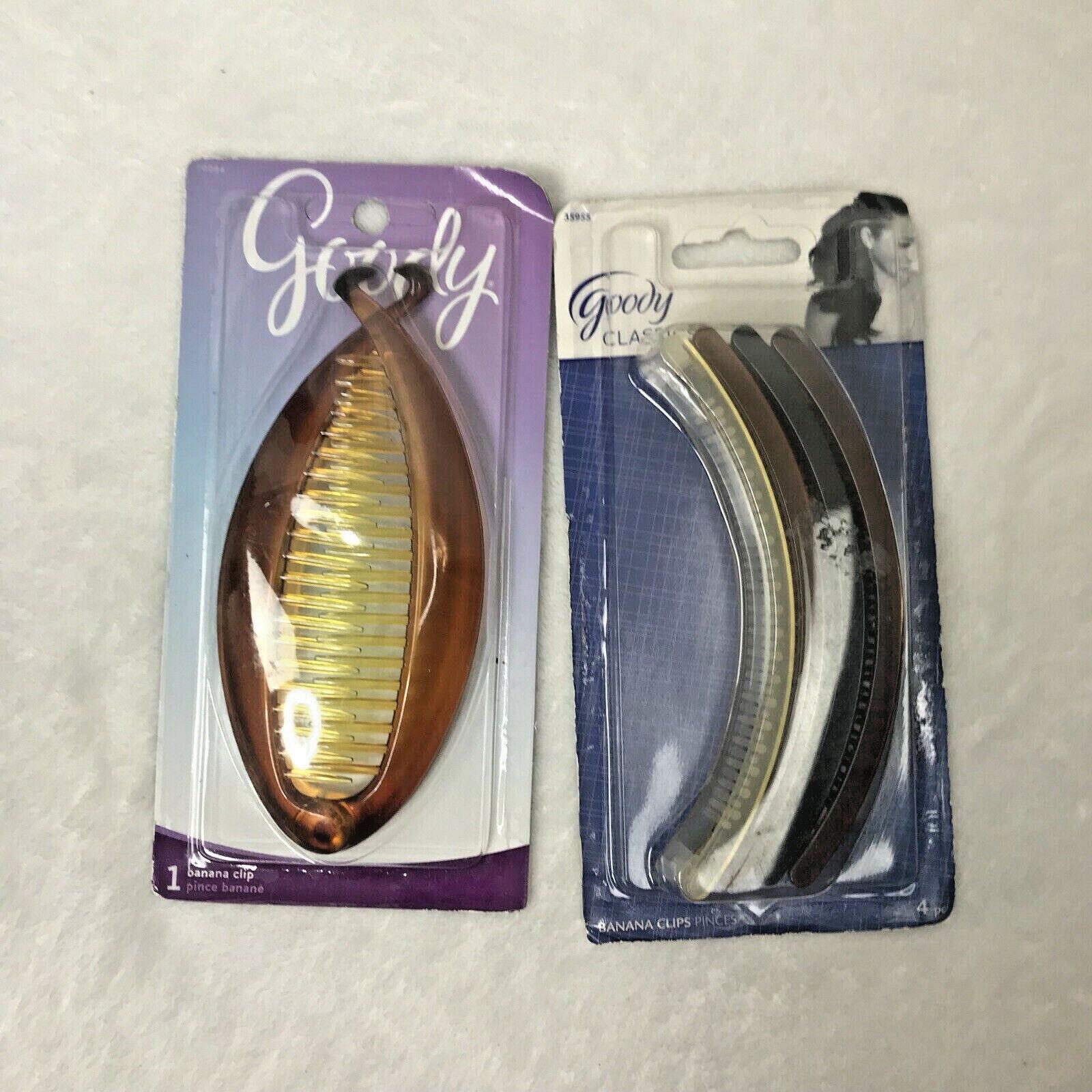 Goody Classics Womens Banana Hair Clips 2 Packs New
