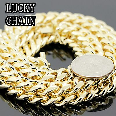 """30""""14K GOLD PLATED MIAMI CUBAN LINK CHAIN NECKLACE 10MM 180g A16"""