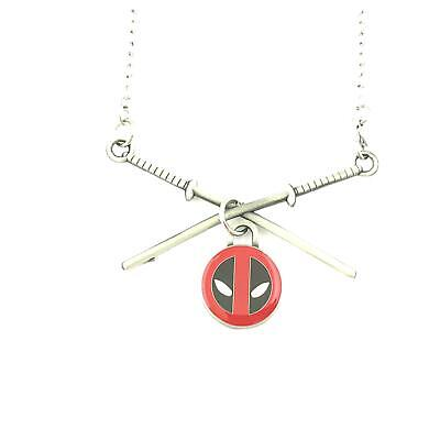 Deadpool Swords Fashion Novelty Pendant Necklace Movie Comic Series