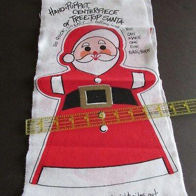 Vtg felt Christmas Santa Tree Topper Centerpiece Puppet 12