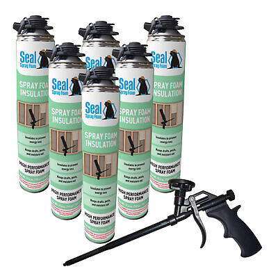 Seal Spray Closed Cell Insulating Foam Can Kit Wgun Foam Applicator 150 Bf