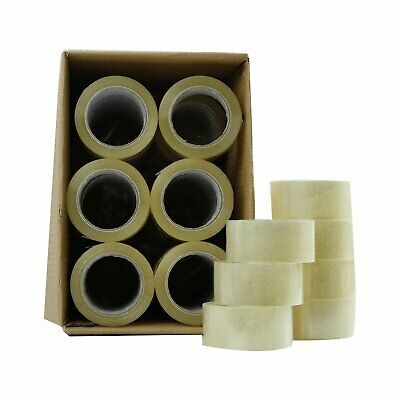 36 - 72 Rolls Clear Packing Packaging Carton Sealing Tape 2 X 110 Yards Box