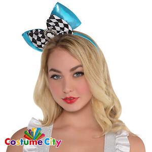Adults Womens Alice in Wonderland Headband Fancy Dress Costume Accessory