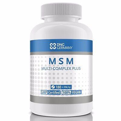 MSM COMPLEX PLUS 180 Tabletten (Vegan) Haut Haare Gelenke Knochen Bindegewebe ()