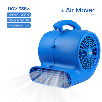 2000cfm 13 Hp Air Mover Carpet Floor Dryer Blower Speed Adjust Home Commercial