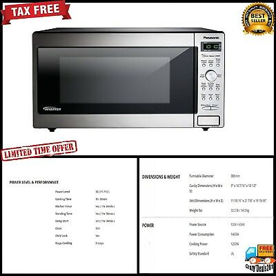 Panasonic Built-In Microwave Oven food cooking 1250 Watt Kitchen LED Display