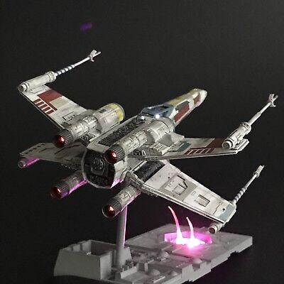 PRO BUILT Luke Skywalker's X-Wing Fighter w/FULL LIGHTING Prop Replica Star Wars