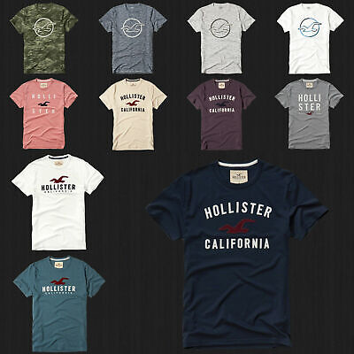 NWT HOLLISTER Applique LOGO Graphic Men T Shirt Tee By Abercrombie AF