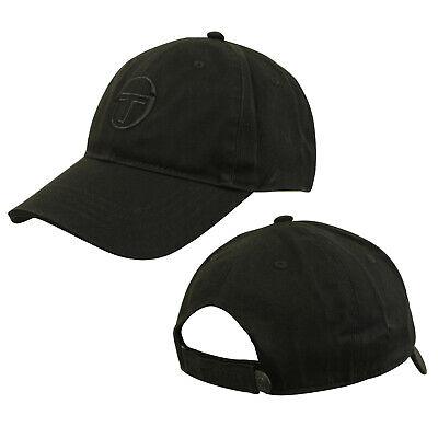 Sergio Tacchini Over Cap Mens Womens Unisex Black Hat 36665 166 A29A