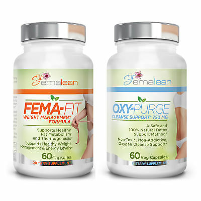 Fema-Fit 500 mg 60 Caps Plus Oxy-Purge 60 Vcaps Diet Pack